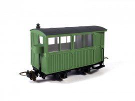 """""""Pélpusztai"""" passenger coach, light green housing"""