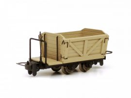 Austro-Hungarian light railway lowry with brake, raw wood