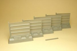 Concrete fence section, new type, 5 pcs.
